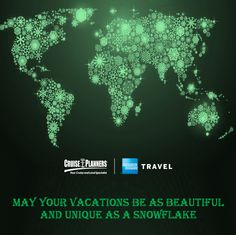 Vacations are like snowflakes…no two are exactly alike. http://www.deserve2travel.com/ #Snowflakes #HolidayTravel