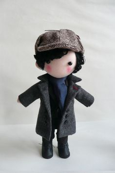Sherlock Doll. $53.00, via Etsy. Is it bad that I REALLY want one of these??