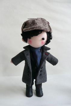 Sherlock Doll. $53.00, via Etsy.