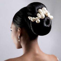 African American. Black Bride. Wedding Hair. Natural Hairstyles. Errol Douglas Bridal Hair High Bun Wedding, Hairdo Wedding, Wedding Day Makeup, Wedding Vows, Wedding Venues, Wedding Officiant, Wedding Dresses, Wedding Anniversary, Anniversary Gifts