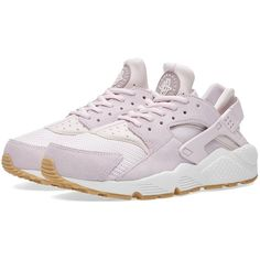 Nike W Air Huarache Run TXT ($135) ❤ liked on Polyvore featuring shoes, athletic shoes, cushioned shoes, breathable shoes, low top, nike shoes and mesh shoes