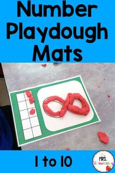 Use these hands on playdoh mats in your math centers to keep students engaged. They will love practicing their letter formation with these printable mats. Just laminate and place in centers during math group time or independent time. Great for the beginning of the year or for students struggling with number recognition and formation.