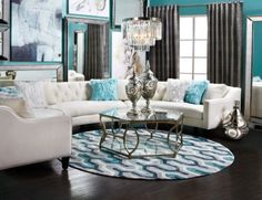 Stylish Home Decor & Chic Furniture At Affordable Prices – Round Rugs Living Room Classic Living Room, My Living Room, Home And Living, Living Room Decor, Modern Living, Living Room Inspiration, Home Decor Inspiration, Sofa Design, Stylish Home Decor