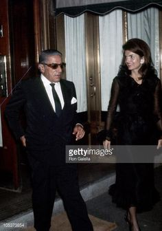 Jackie Onassis and Ari Onassis during Jackie Onassis and Ari Onassis Sighting at La Cote Basque - September 28, 1970 at La Cote Basque in New York City, New York, United States.