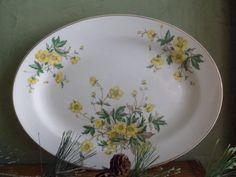 """Edwin Knowles Platter 12"""" , Buttercup Pattern"""