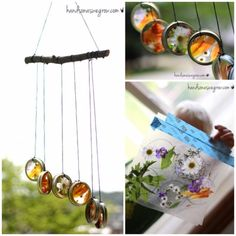 DIY Wind Chimes - Nature Suncatcher Wind Chimes - Easy, Creative and Cool Windchimes Made from Wooden Beads, Pipes, Rustic Boho and Repurposed Items, Silverware, Seashells and More. Step by Step Tutorials and Instructions http://diyjoy.com/diy-wind-chimes