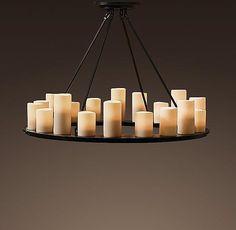 restoration hardware chandliers | Candle Round Medium Chandelier | Chandeliers | Restoration Hardware ...