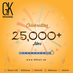 Gkhair UAE reached a 25,000+ Likes on facebook, thanks to ALL of you for your interest and contributions. We will educate people all about the hair and we will continue our promise.  GKhair - Distributor in United Arab Emirates by Black Pearl Global Trading LLC.  ☎️ 04-3309010 | ✉️ www.gkhair.ae  https://www.facebook.com/GKhair.in.UAE/