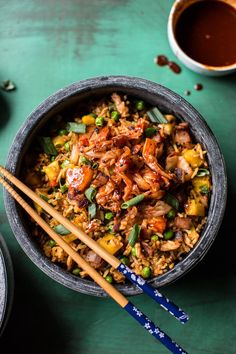 Kimchi Chicken and Bacon Fried Rice | halfbakedharvest.com @hbharvest