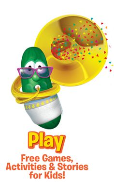 Veggie Tales helped me by keeping my son occupied with some excellent fun and positive learning while I make dinner. Veggie Tales Party, God Made You, Veggietales, Christian Resources, Love Fairy, Free Fun, Lessons For Kids, 2nd Birthday Parties, Larry
