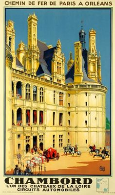 Chambord, vintage travel poster, Alo, 1930s