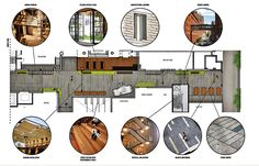 Detailed alley plans show a variety of architectural elements, graphics, lighting, storefronts, furniture, awnings, and canopies to help activate the retail alley. (© Crème Architecture & Design)
