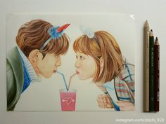 Weightlifting Fairy Kim Bok Joo Fanart, Weightlifting Fairy Kim Bok Joo Wallpapers, Korean Art, Asian Art, Kdrama, Kim Book, Colored Pencil Portrait, Korean Drama Quotes, Lee Sung Kyung