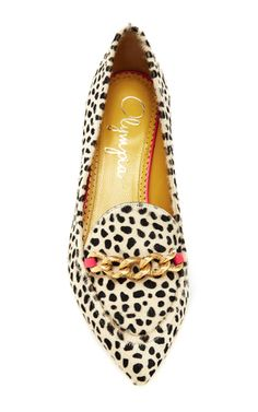 Calf Hair Francis Heeled Loafers by CHARLOTTE OLYMPIA Now Available on Moda Operandi