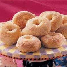 No-Fry Potato Doughnuts..These cinnamon sugar coated goodies have been a family favorite since 2000.