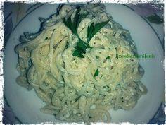 Σπαγγέτι με pesto φέτας Pesto, Cabbage, Spaghetti, Rice, Chicken, Vegetables, Ethnic Recipes, Food, Veggies