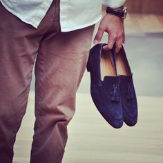 Sexy & Authentic 'Genova Navy'  #designer #shoes #loafers #mensfashion