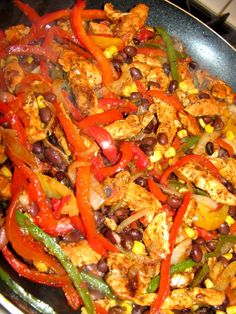 Healthy Chicken Fajitas Served 5 ways...
