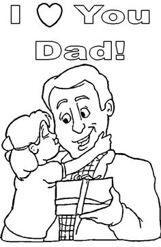 93 best fathers day images gifts for dad fathers day crafts crafts Holbrook Glasses daughter with father s day gift kissing dad this is a great coloring page for