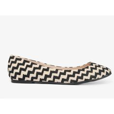 FOREVER 21 Zigzag Stripe Flats ($17) found on Polyvore