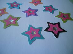 50 Paper Stars with star embellishment by ang744 on Etsy, $2.75