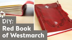 The Hobbit DIY Red Book of Westmarch | Lord of the Rings, Bilbo Baggins, Long Stitch Bookbinding #halloween #comicon