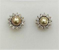 Pearl Jewelry, Pearl Earrings, Persian, White Gold, Jewellery, Pearls, Diamond, Natural, Pearl Studs
