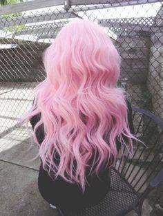 Light Pink Wavy Hair hair wavy hair pink hair hair ideas hairstyles hair pictures hair designs hair images