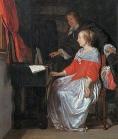 e Gabriel Metsu (Dutch Baroque Era painter, 1629-1667) Music Lesson