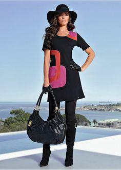 La robe graphique noir/fuchsia/orange - BODYFLIRT acheter online - bonprix.fr