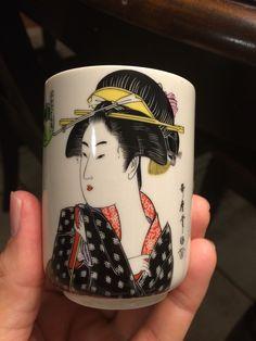 "Set of 4 Japanese Geisha Kimono Tea Sake 3 1 4"" Cups | eBay"