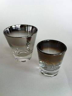 Silver Ombre Mid Century Shot Glasses by vintage19something