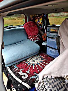 For those of us who aren't doing back country. Kombi Hippie, Hippie Car, Kombi Motorhome, Car Camper, Vw Minibus, Suv Camping, Camping Hacks, Car Hacks, Car Interior Decor