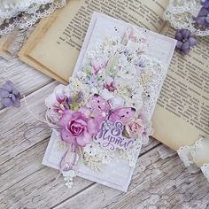 Handmade Stationary, Handmade Cards, Mixed Media Cards, Unique Cards, Mix Media, Flower Cards, Color Mixing, Cardmaking, Shabby Chic