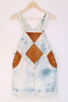 leather + denim overalls by @▲NNIK▲ LOUISE