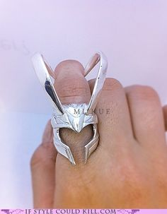 A Loki helmet ring?! Shut up and take my money!!!