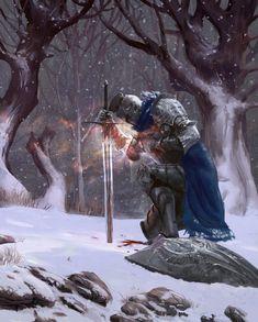 The Art of Ryan Van Dongen - Legionnaire Zooey Deschanel, Death Note, Fantasy Warrior, Fantasy Art, Dungeons And Dragons, Supernatural, Indie, Nordic Tattoo, 242