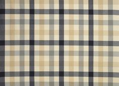 Mitford Check Cotton Fabric Charcoal/Biscuit