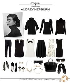 travel outfit    inspiration Audrey Hepburn