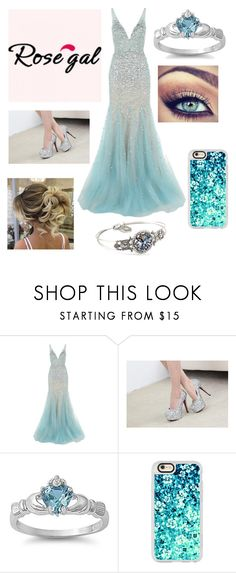 """Deep Sea"" by annawell-1 ❤ liked on Polyvore featuring Jovani, Casetify and Sweet Romance"