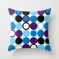 """Circles"" Throw Pillow http://society6.com/product/cirlces-838_pillow#25=193&18=126"