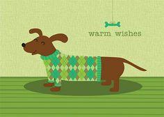 dachshund in argyle :-) by nina seven