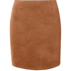 Tan Suede Curve Hem Mini Skirt (395 MAD) ❤ liked on Polyvore featuring skirts, mini skirts, tan, reversible skirt, short skirts, suede skirt, brown mini skirt and zipper mini skirt