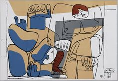 Le Corbusier (Charles-Edouard Jeanneret) La Chaux-de-Fonds, Suiza, 1887 - Roquebrune Cap Martin, Francia, 1965 Sin título (La caída de Barcelona) Fecha:  1960 Técnica:  Litografía sobre papel