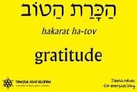gratitude in Hebrew