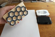 Excellent tutorial on making a Honeycomb Stamp This technique would work well for any geometric style