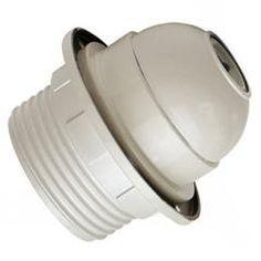 Casquillo de plástico con doble arandela #electricidad #lamparas #diseño #montar #fabricar