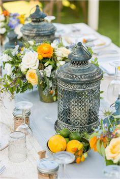 wedding table lanterns