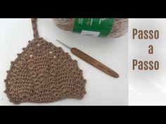 Crochet Bikini Pattern, Crochet Crop Top, Halter Bikini, Crochet Clothes, Free Pattern, Sewing Patterns, Lily, Make It Yourself, Knitting