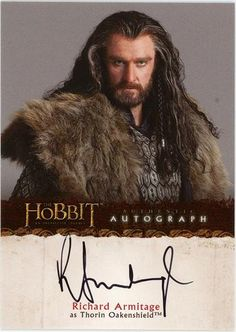 Richard Armitage autograph...want it!